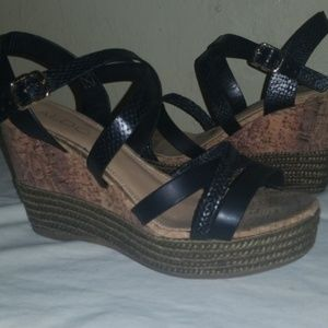 Wedges comfortable sexy strappy Womans shoes size